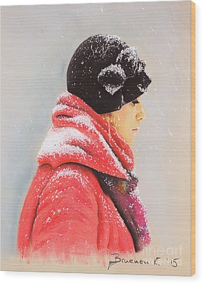 Sweet Caroline Wood Print by Katharina Filus