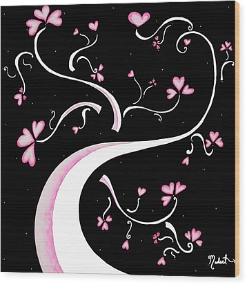 Sweet Charity By Madart Wood Print by Megan Duncanson