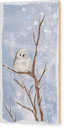 Wood Print featuring the painting Sweet Cold by Veronica Minozzi