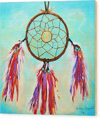 Sweet Dream Catcher Wood Print