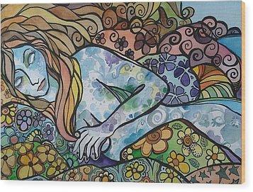 Sweet Dreams Wood Print by Claudia Cole Meek