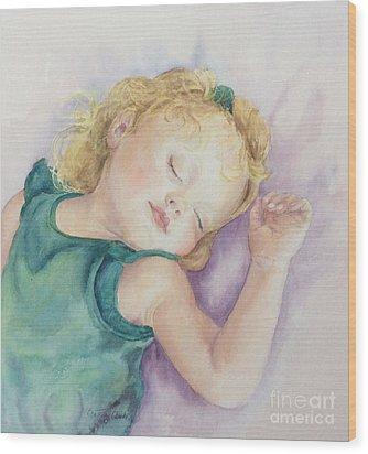 Wood Print featuring the painting Sweet Dreams Lucy by Beatrice Cloake