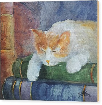 Sweet Dreams On The Books Wood Print by Faruk Koksal