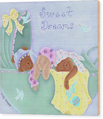 Sweet Dreams Wood Print by Tracy Campbell