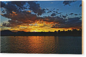 Wood Print featuring the photograph Sweet End Of Day by Eric Dee