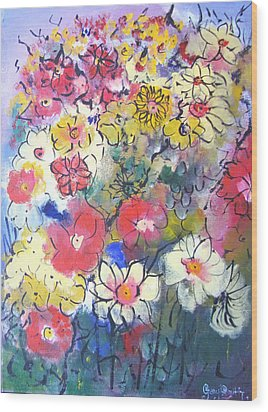 Wood Print featuring the painting Sweet Fragrance by Gary Smith