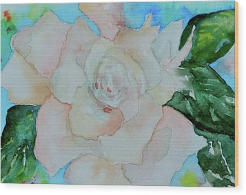 Wood Print featuring the painting Sweet Gardenia by Beverley Harper Tinsley