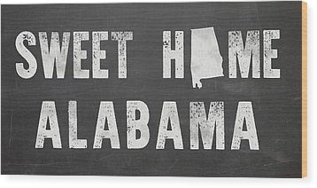 Sweet Home Alabama Wood Print