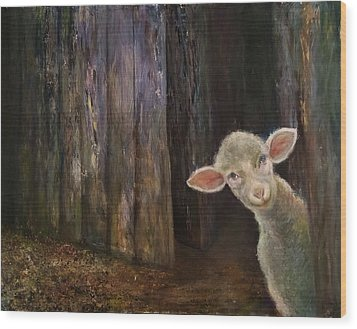 Sweet Lamb Wood Print