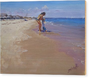 Wood Print featuring the painting Sweet Memories by Laura Lee Zanghetti