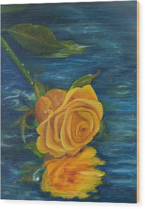 Sweet Remembrance Reflected Wood Print by Susan Dehlinger