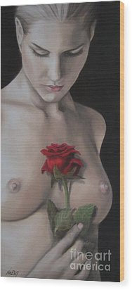 Sweet Smell Of Sin Wood Print by Jindra Noewi