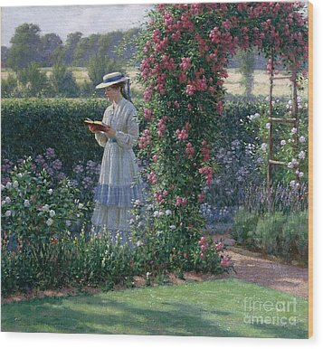 Sweet Solitude Wood Print by Edmund Blair Leighton