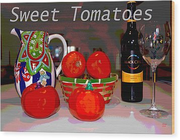 Sweet Tomatoes Wood Print