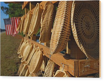 Sweetgrass Baskets Wood Print