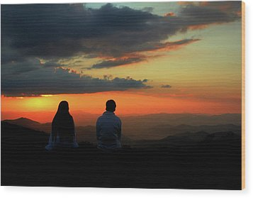 Wood Print featuring the photograph Sweetheart Sunset by Jessica Brawley