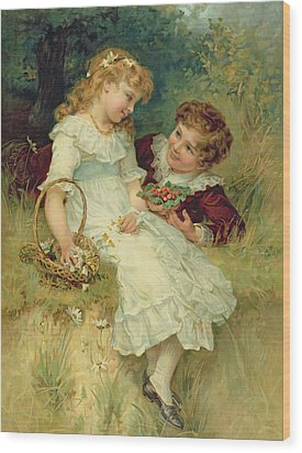 Sweethearts Wood Print by Frederick Morgan