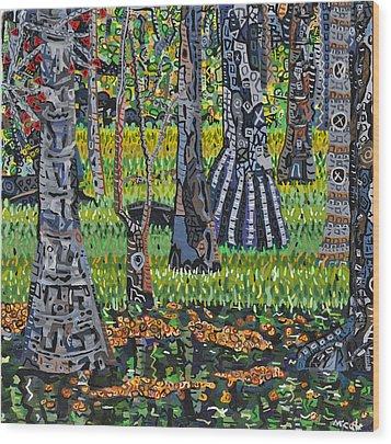 Sweetwater Creek Wood Print by Micah Mullen