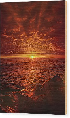 Wood Print featuring the photograph Swiftly Flow The Days by Phil Koch