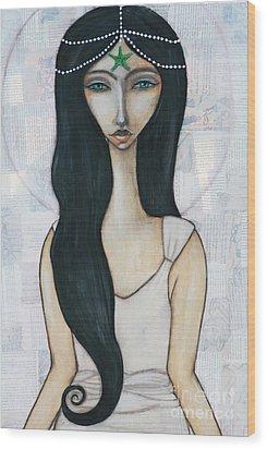 Swim With Me Wood Print by Natalie Briney