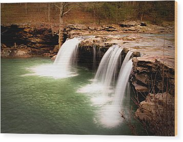 Swimming Hole Wood Print by Tamyra Ayles