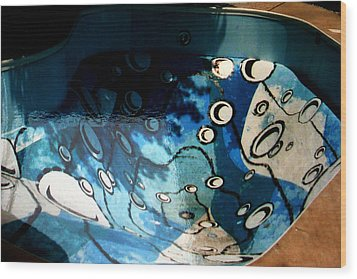 Swimming Pool Mural 2 Wood Print by Rachel Christine Nowicki
