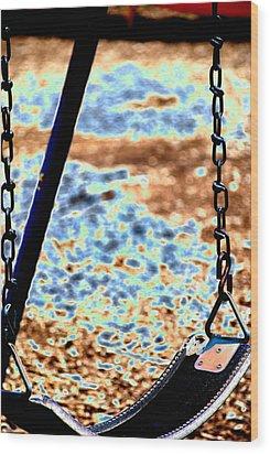 Swing Wood Print by Peter  McIntosh