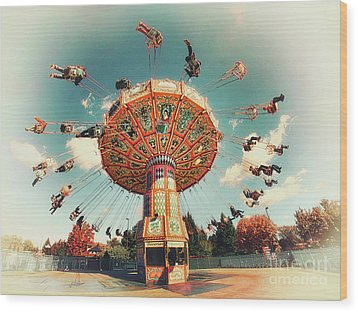 Wood Print featuring the photograph Swingin' by Mark Miller
