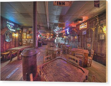 Swinging Doors At The Dixie Chicken Wood Print
