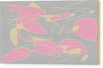 Swirl 3 Wood Print