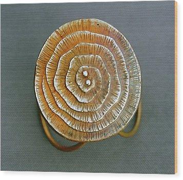 Swirl Bronze Ring Wood Print by Mirinda Kossoff