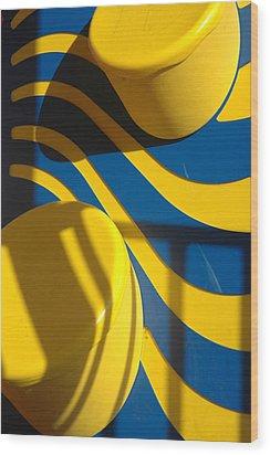 Swirls Of Fun Wood Print by Mickie Boothroyd