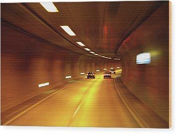 Wood Print featuring the photograph Swiss Alpine Tunnel by KG Thienemann