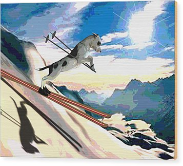 Swiss Alps Wood Print by Jann Paxton