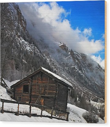 Swiss Barn Wood Print