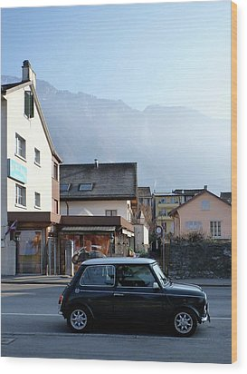 Swiss Mini Wood Print by Christin Brodie