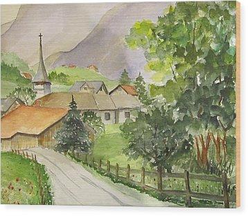 Swiss Village Wood Print
