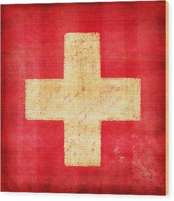 Switzerland Flag Wood Print