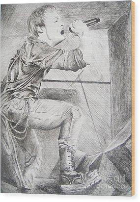 Sybreed - Ben Nominet Wood Print by Melissa Gallardo