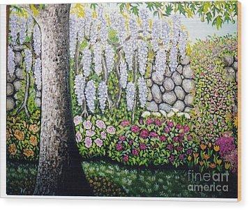 Sycamore Garden Wood Print by William Ohanlan