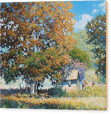 Sycamores With Tallow Wood Print by Kevin Lawrence Leveque