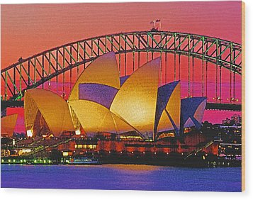 Sydney Architecture Wood Print by Dennis Cox WorldViews