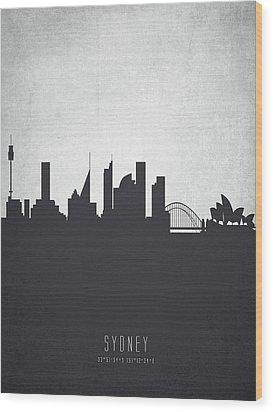Sydney Australia Cityscape 19 Wood Print by Aged Pixel
