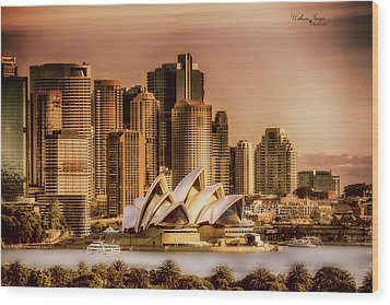 Wood Print featuring the photograph Sydney Cityscape by Wallaroo Images