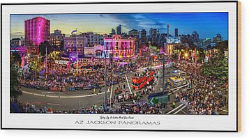 Sydney Gay And Lesbian Mardi Gras Parade Poster Print Wood Print by Az Jackson