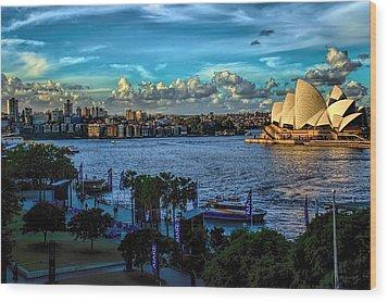 Sydney Harbor And Opera House Wood Print