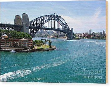 Sydney Harbor Bridge Wood Print by Johanne Peale