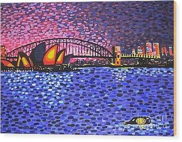 Sydney Harbour Wood Print by Alan Hogan