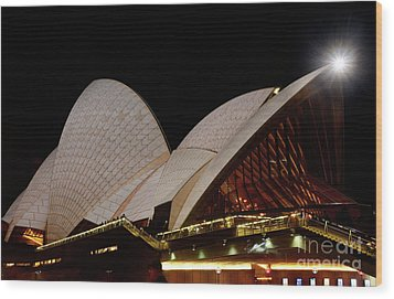 Wood Print featuring the photograph Sydney Opera House Close View 2 By Kaye Menner by Kaye Menner