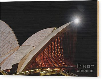 Wood Print featuring the photograph Sydney Opera House Close View By Kaye Menner by Kaye Menner